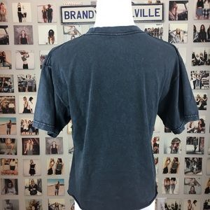 Brandy Melville Tops - Brandy melville black good vibes aleena shirt top